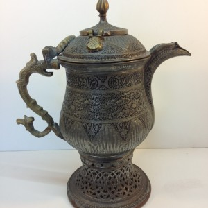 Antique Mixed Metal Coffee Urn