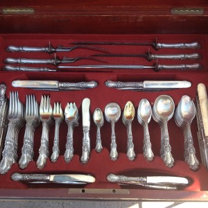 Gorham Sterling Silver Flatware Set Henry II Pattern