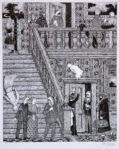 Set of 10 Edward Gorey Signed/Numbered Prints