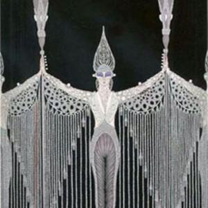 $1,500 Erte Serigraph Les Bijoux de Perle